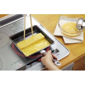 玉子焼き器 玉子焼き機 フライパン エッグパン 玉子焼き 卵焼き ヨシカワ IH対応ワイド玉子焼き YJ9628 (D)|sukusuku|05