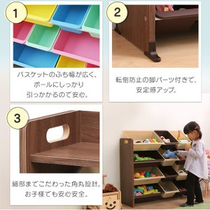 おもちゃ 収納 おもちゃ収納 おもちゃ箱 子ども 収納 キッズ収納 こども 子ども部屋 収納 キッズトイハウスラック KTHR-412|sukusuku|09