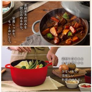 (在庫処分)鍋 無加水鍋 おしゃれ デザイン無加水鍋 GMKS-24D アイリスオーヤマ|sukusuku|02