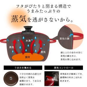 (在庫処分)鍋 無加水鍋 おしゃれ デザイン無加水鍋 GMKS-24D アイリスオーヤマ|sukusuku|11