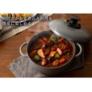 (在庫処分)鍋 無加水鍋 おしゃれ デザイン無加水鍋 GMKS-24D アイリスオーヤマ|sukusuku|15