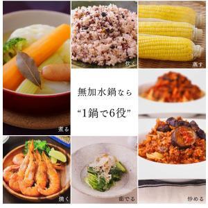 (在庫処分)鍋 無加水鍋 おしゃれ デザイン無加水鍋 GMKS-24D アイリスオーヤマ|sukusuku|03
