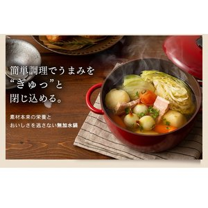 (在庫処分)鍋 無加水鍋 おしゃれ デザイン無加水鍋 GMKS-24D アイリスオーヤマ|sukusuku|08