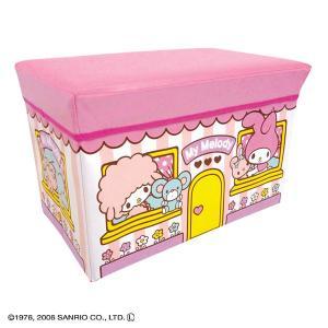 おもちゃ箱 収納 こども お片付け おかたづけ 子供部屋 おもちゃ収納 スツール キティ ハローキティ マイメロディ|sukusuku|05