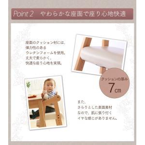 ベビーチェア おしゃれ テーブル 木製 キッズチェア 子ども用 椅子 クッション ハイタイプ ハイチェア ダイニングチェア 高さ調整 いす 子供用 天然木 安心設計|sukusuku|05