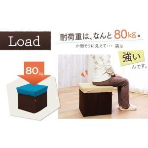 おもちゃ箱 収納ボックス ボックススツール BOXスツール スクエア Lサイズ BLC-378|sukusuku|05