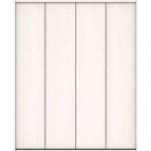 ハピアベイシス クローク収納 折戸ユニット フラット縦木目タイプ ハンドルなし 固定枠尺モジュール 四方枠 2300高 1644幅(6尺(小)間口) ネオホワイト