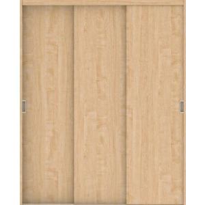 ハピアプレミア クローク収納 引戸ユニット フラットタイプ 銘木ウッド調 固定枠 四方枠 2000高 メープル柄(ミルベージュ)  大建工業の建具