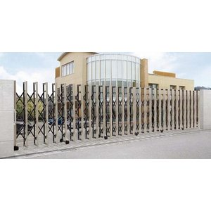 グランシャイン Aタイプ フラットレールタイプ 左右両開閉 1000SW 伸縮 門扉 ゲート LIXIL リクシル|suma-colle