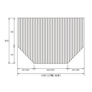 パナソニック 風呂フタ フロフタ1620用 ホワイト サイズ 1335×910 変形型|suma-colle
