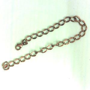 BCN-007 バッグチャームチェーン・ブレスレット(兼用) 1本 真鍮古美 sumaccessory