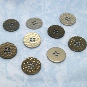 メタル平ボタンA・15mm 6ヶ|sumaccessory