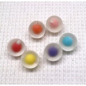 ポリ封入 カラー丸玉 通し穴 18mm 1ヶ|sumaccessory
