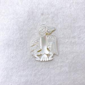 シェルパーツ 鳥 26×35mm ホワイト (1個)|sumaccessory