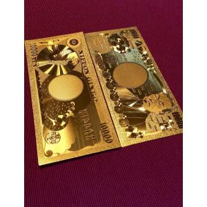ゴールドモデル!純金箔の一万紙幣【本物24K】金運風水アイテ...