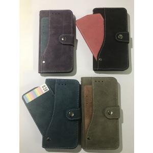 送料無料 iPhone X ケース 手帳型 スライド カード ポケット ソフト レザー カバー|sumahoselect