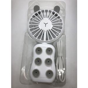 手持ち 扇風機 ミニ扇風機 usb扇風機 卓上 ファン 超静音 充電式 2段階風量調節 スマホ吸盤 LED 光る|sumahoselect