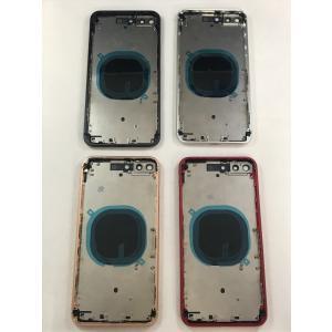 iPhone 8 plus + ミドルフレーム 背面ガラス カメラレンズ付き 全4色 ゴールド シルバー ブラック レッド 修理 交換 リペア バックプレート|sumahoselect