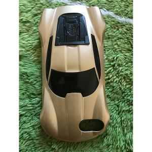 iPhone 7 8 6 4.7インチ カバー ケース カーデザイン 車型 スーパーカー ゴールド【メール便対応】|sumahoselect