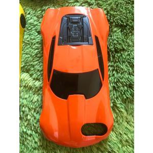 iPhone 7 8 6 4.7インチ カバー ケース カーデザイン 車型 スーパーカー オレンジ【メール便対応】|sumahoselect