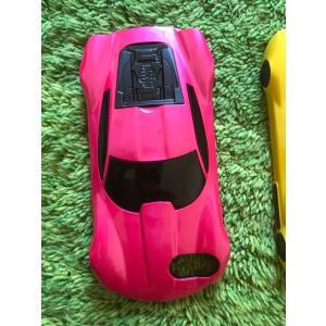 iPhone 7 8 6 4.7インチ カバー ケース カーデザイン 車型 スーパーカー ピンク【メール便対応】|sumahoselect