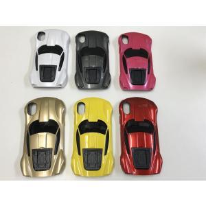 iPhone X Xs iPhone 10用スマホケース 5.8インチ カーデザイン 車型 スーパーカー  ハードケース  車 car かっこいい スタンドケース|sumahoselect