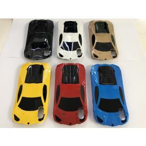 iPhone X Xs スマホケース 5.8インチ カーデザイン 車型 スーパーカー ハードケース 車 car おしゃれ スタンドケース カウンタック風|sumahoselect