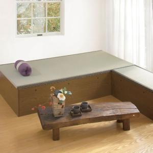高床式ユニット畳「望」 80×160 ヘリなし 引出付 sumai-diy