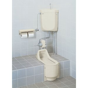 LIXIL 和風簡易水洗便器 トイレーナF 寒冷地・水抜方式/床給水/手洗付 TWC-200B_TF-870EW|sumai-diy
