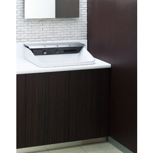 LIXIL 多機能洗面器 ジェットボウル カウンタータイプ/壁排水/グレードW3/電気温水器付 L-C11W3_LF-21PA-W|sumai-diy