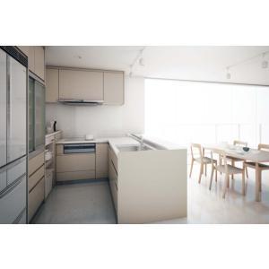 Panasonic Lクラス キッチン L型ローステップ対面+ハイカウンタープラン l-class_plan10|sumai-diy