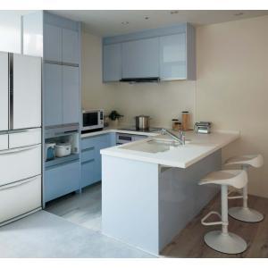 Panasonic Lクラス キッチン U型フラット対面プラン l-class_plan16|sumai-diy