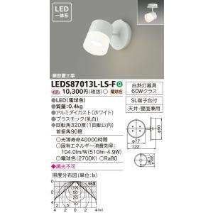 東芝 LEDスポットライト フランジタイプ LEDS87013L-LS-F sumai-diy