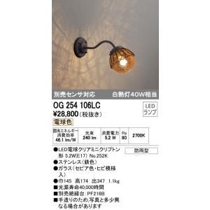 オーデリック LEDランプ ポーチライト(別売センサ対応) OG254106LC sumai-diy