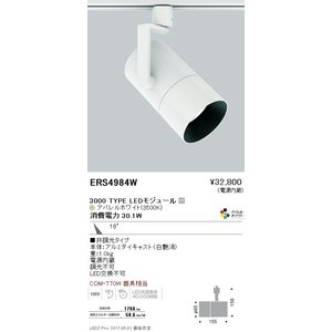 遠藤照明 スポットライト  LEDモジュール付 非調光タイプ ERS4984WA sumai-diy