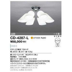 山田照明 シャンデリア 電球色 非調光 〜8畳 CD-4287-L sumai-diy