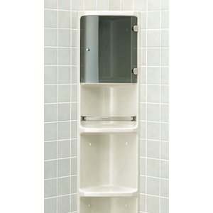 LIXIL 浴室収納棚  扉付(隅付) 落下防止バー付 YR-312T|sumai-diy