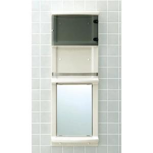 LIXIL 浴室収納棚 鏡・扉付(平付) 落下防止バー付 YR-412GT sumai-diy