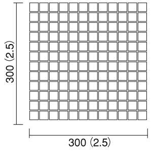 名古屋モザイク アートモザイク IPボーダーW 25角 [紙貼り] 22シート/箱 IP-25-01V〜IP-25-960W|sumai-diy