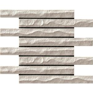 名古屋モザイク 外壁タイル レジミュールII 197×22ボーダーテッセラ面 (1/4レンガ貼り) [裏ネット貼り] 20シート/箱 LEM-01S〜LEM-06S|sumai-diy