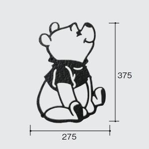 パナソニック ディズニーシリーズ 壁飾り くまのプーさんタイプ B526F1|sumai-diy