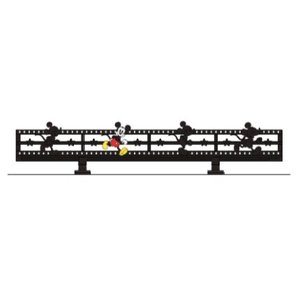 LIXIL ディズニー ミニフェンス ミッキーC型 ブラック+フルカラー(ひとり) 【受注生産品】 disneymfmcf1|sumai-diy