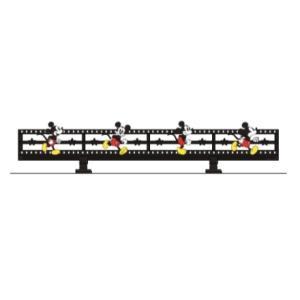 LIXIL ディズニー ミニフェンス ミッキーC型 ブラック+フルカラー(全員) 【受注生産品】 disneymfmcf2|sumai-diy