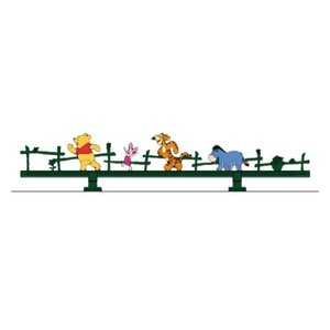 LIXIL ディズニー ミニフェンス プーさんD型 モスグリーン+フルカラー 【受注生産品】 disneymfpdf|sumai-diy