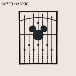 LIXIL ディズニー 面格子 ミッキーA型 ブラック W750 【受注生産品】 disneymema750k|sumai-diy