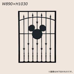 LIXIL ディズニー 面格子 ミッキーA型 ブラック W890 【受注生産品】 disneymema890k|sumai-diy