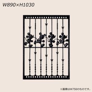 LIXIL ディズニー 面格子 ミッキーC型 ブラック W890 【受注生産品】 disneymemc890k|sumai-diy