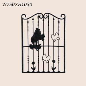 LIXIL ディズニー 面格子 プーさんA型 ブラック W750 【受注生産品】 disneymepa750k|sumai-diy