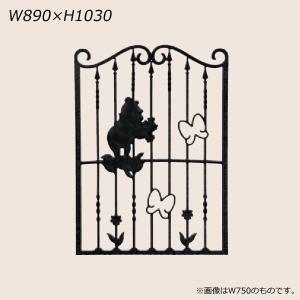 LIXIL ディズニー 面格子 プーさんA型 ブラック W890 【受注生産品】 disneymepa890k|sumai-diy