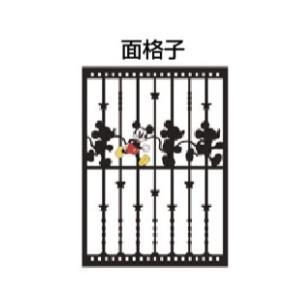 LIXIL ディズニー 面格子 ミッキーC型(ひとり) ブラック+フルカラー W750 【受注生産品】 disneymemc750f1|sumai-diy